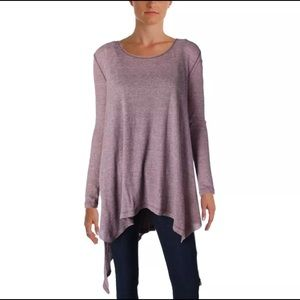 We The Free Free People Purple Heathered Top S
